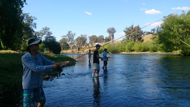 Fly Fishing lessons are great fun for groups.