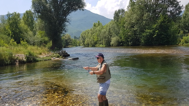Tane from Tumut Fly Fishing on the Treska River in the Macedonian Mountains