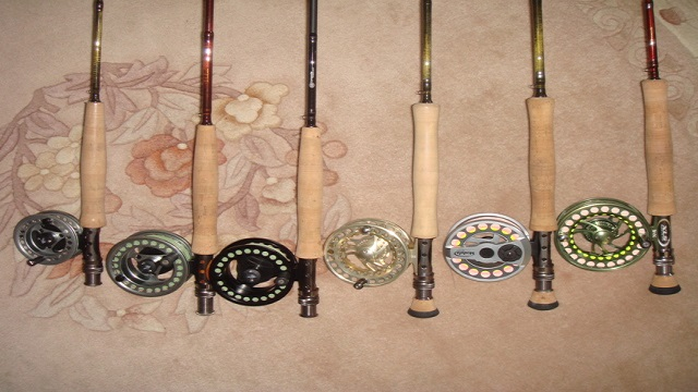 Tony uses these beautiful fly rods during fly fishing lessons.