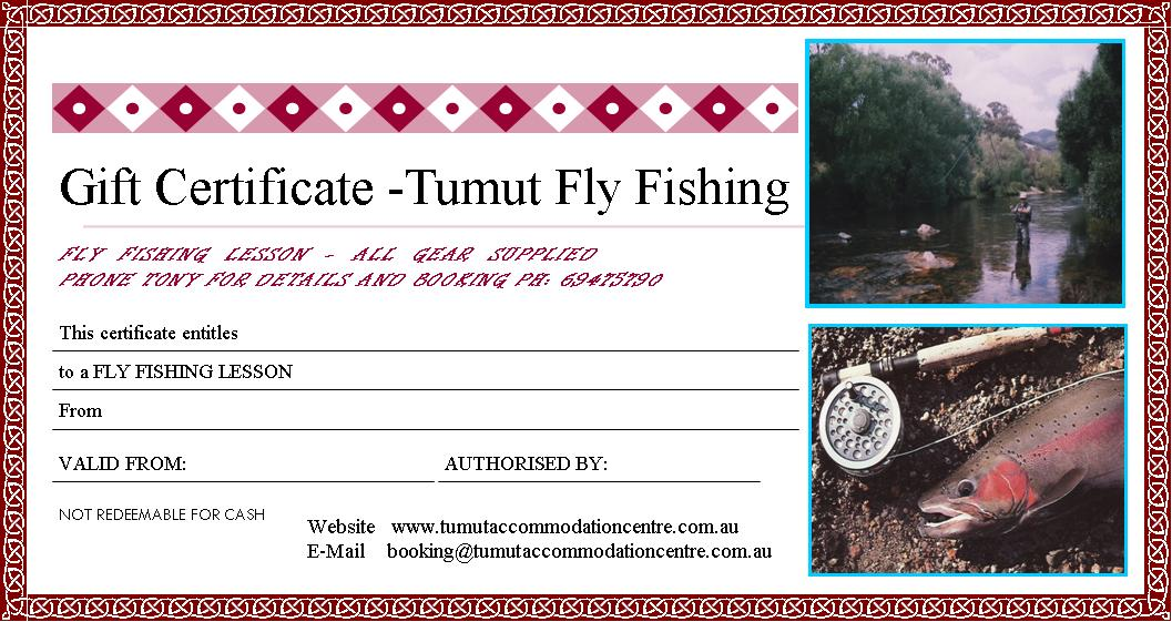 Tumut Fly Fishing Gift Certificate